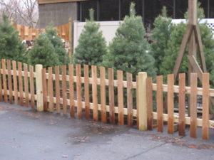 Roll top picket fence