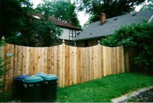 scalloped tall privacy fence